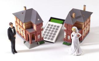Процедура подачи на раздел имущества