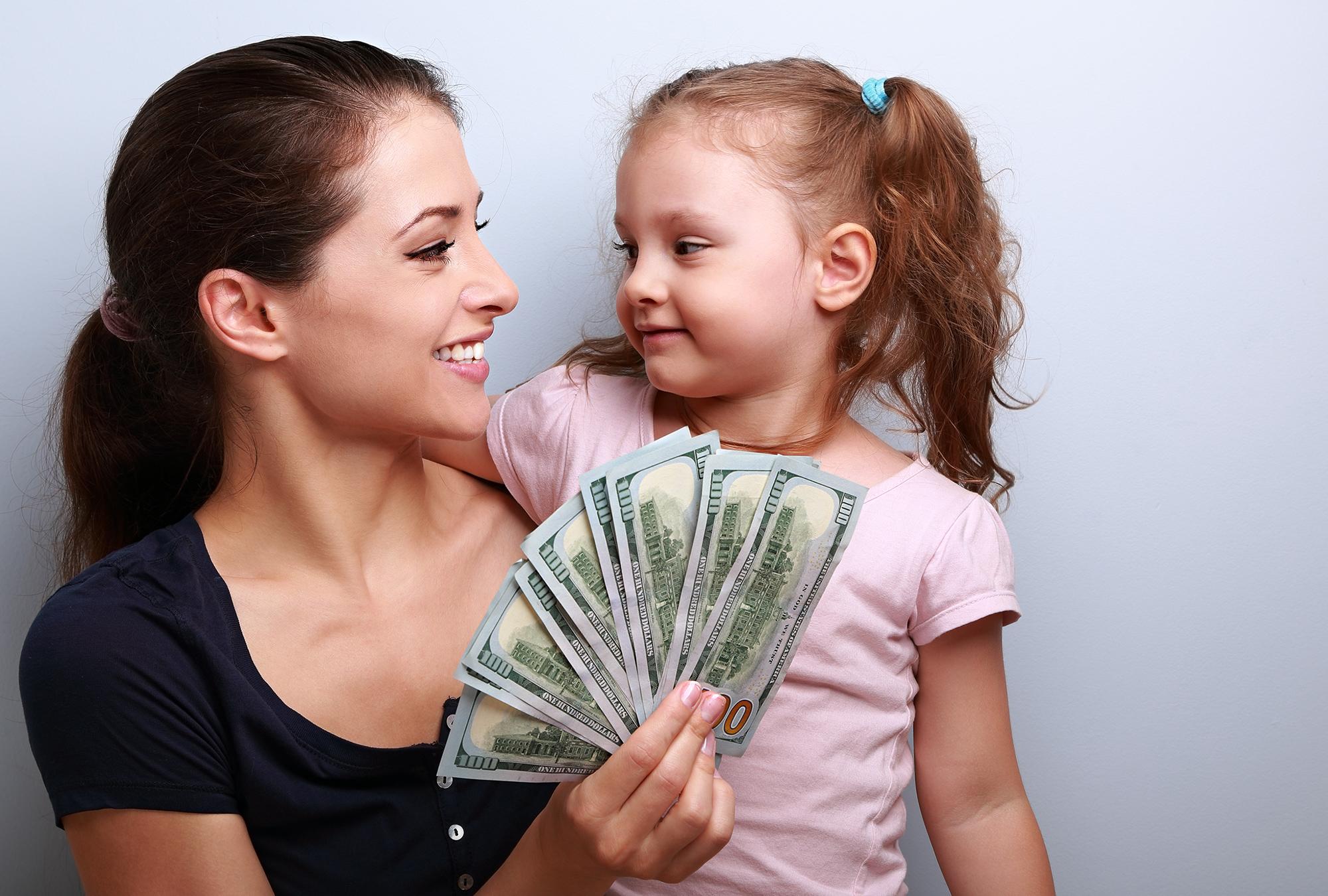 Алименты на ребенка на мать